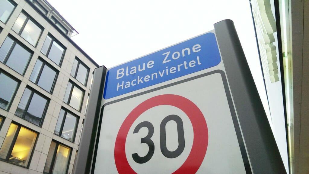 Parken in München - die blaue Zone