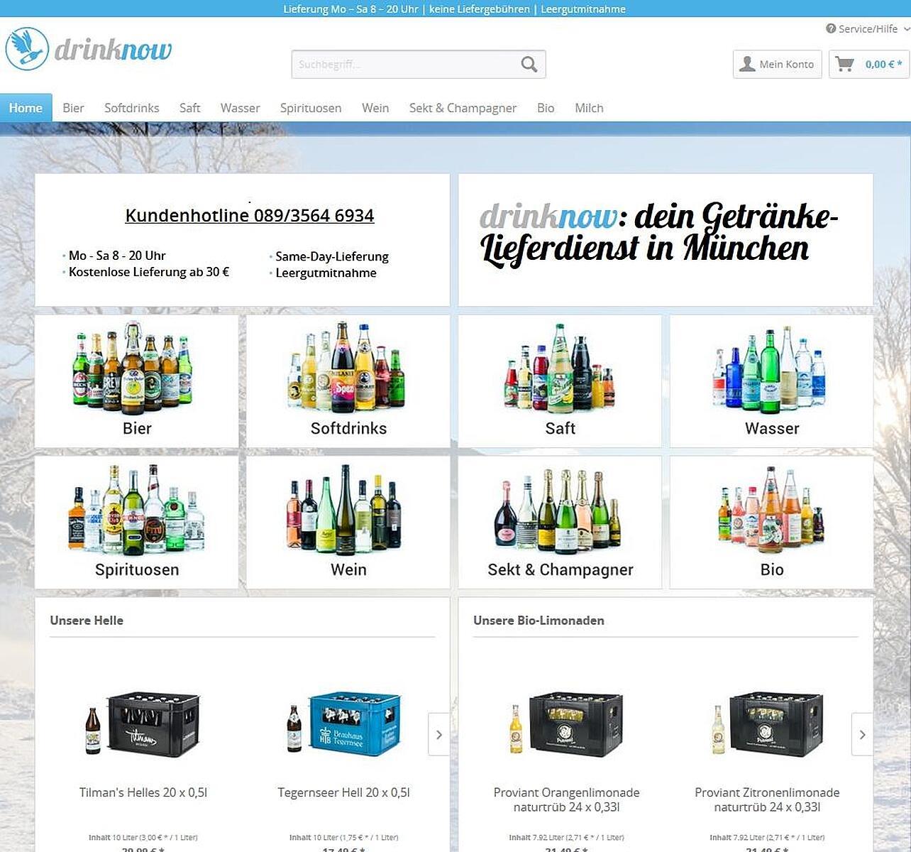 Getränkelieferdienst - drinknow, Theresienstr., Maxvorstadt, München ...