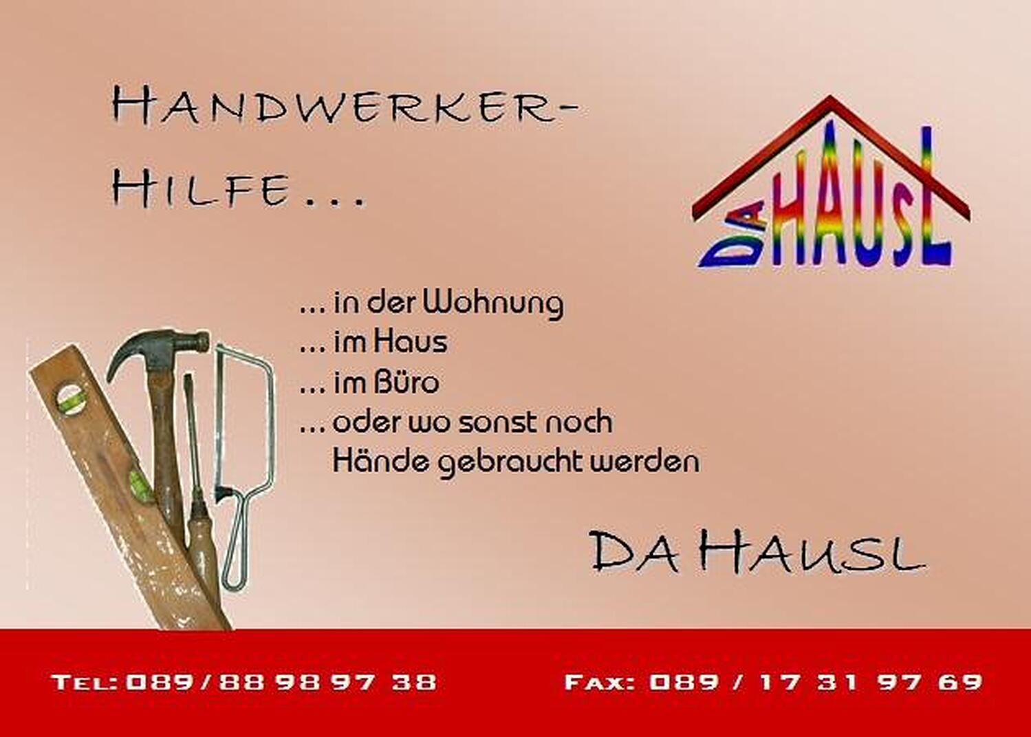 Da Hausl Hausmeister Und Handwerker Service Munchen Gassnerstr
