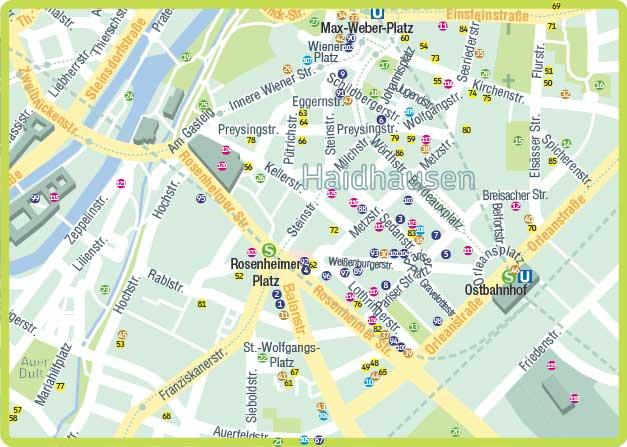 Karte Familien- und Kinderfreundliches Haidhausen