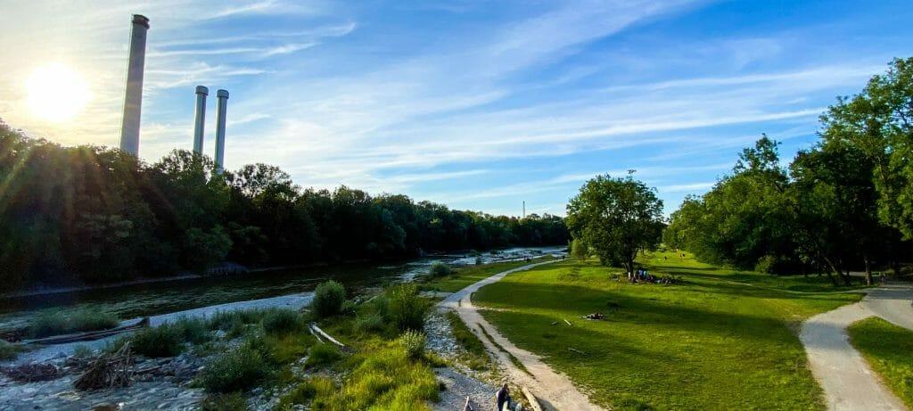 Spaziergang entlang der Isar / Brudermühlbrücke